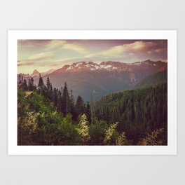 Mountain Sunset Bliss - Nature Photography Kunstdrucke