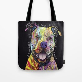 Colourful Pit Bulls, pit bull gift Tote Bag
