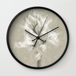 Wild forest flower sketch Wall Clock