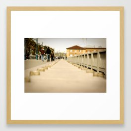 Walking down the Embarcadero in San Francisco Framed Art Print