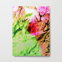Pink & Green Metal Print