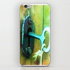 heart key iPhone & iPod Skin
