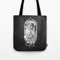 tarot Tote Bags featuring Death Tarot by imadamspivak