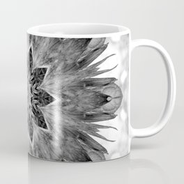 Beautiful Black White Flower Abstract Coffee Mug