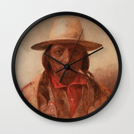 Sitting Bull Painting, Julian Scott Wall Clock