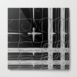 Monochrome Window Metal Print