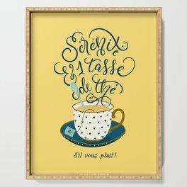 Sérénité et une tasse de thé Serving Tray