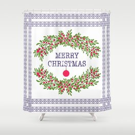 Christmas . Congratulations gifts. Shower Curtain