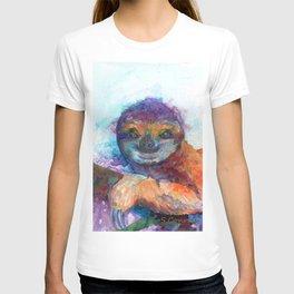 Sloth Mixed Media on Yupo T-shirt