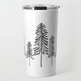 Pine Trees – Black Ink Travel Mug