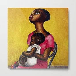 African American Masterpiece 'Mother & Child' by M. Covarrubias Metal Print