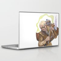 lab Laptop & iPad Skins featuring Necromancer's Lab by Sean Greenberg Illustration