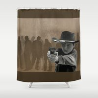 carl sagan Shower Curtains featuring Carl by Richtoon