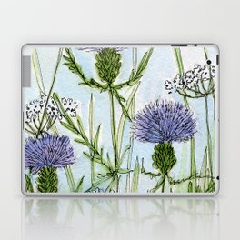 Thistle White Lace Watercolor Laptop & iPad Skin