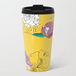 Sunshine orchids Metal Travel Mug