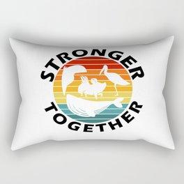 Lets Get Stronger Together Vintage Style Rectangular Pillow