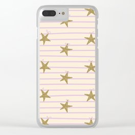Pink Lines Clear iPhone Case