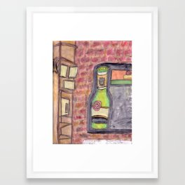 Maxfield's wall Framed Art Print