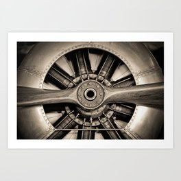 Aviation Decor, Vintage Propeller, Airplane Art Art Print