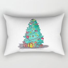 Christmas Tree Rectangular Pillow
