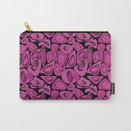 Retro Black raspberry abstraction Carry-All Pouch