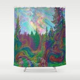 Dark Hipster Forest Shower Curtain