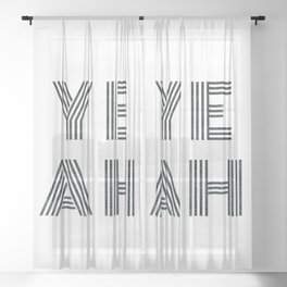 Yeah - minimal black Sheer Curtain