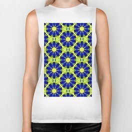 Blue Green vector abstract floral background Biker Tank