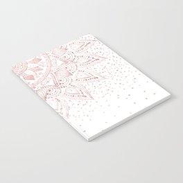 Elegant rose gold mandala confetti design Notebook