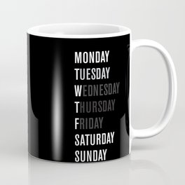 Black WFT Week Coffee Mug
