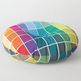 Colorful Soul - All colors together Floor Pillow