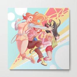 Girl Power Up! Metal Print