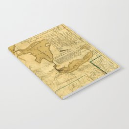 Map Of Great Lakes 1785 Notebook