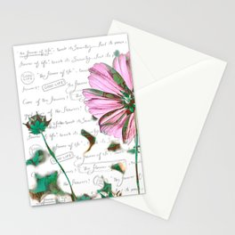 The Flower of Life - Free Hand Calligraphy! Stationery Cards