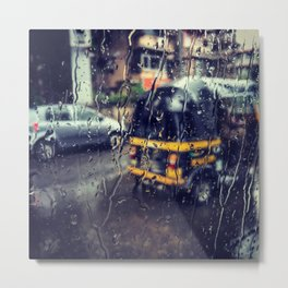 Mumbai Monsoon Drive Metal Print