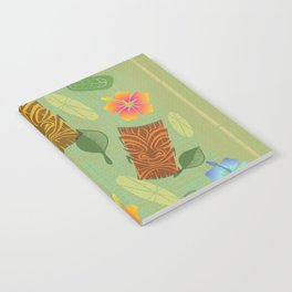 Bamboo Tiki Room Pattern Notebook