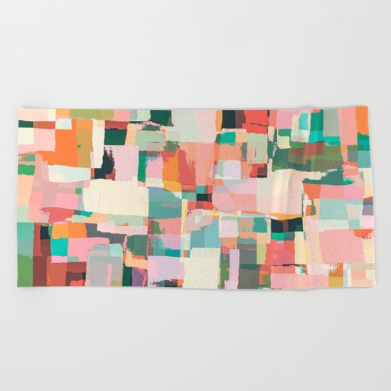 Abstract Painting No. 9 Beach Towel
