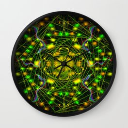 Black Scratch Mandala 5 Wall Clock