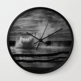 Yellowstone Geyser Landscape Photograph Wall Clock