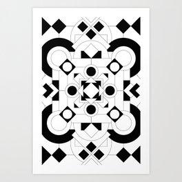 Radial Pattern I Art Print