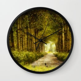 Country Side Road Wall Clock