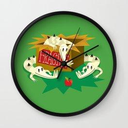 Crocs, Box and Apple Wall Clock