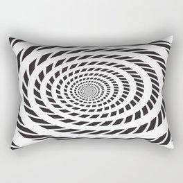 BLACK LICORICE TWIST SWIRL Abstract Art Rectangular Pillow