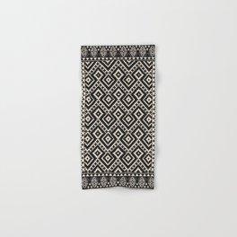 B&W Boho Moroccan Geomitrec Farmhouse Rustic Style Design Hand & Bath Towel