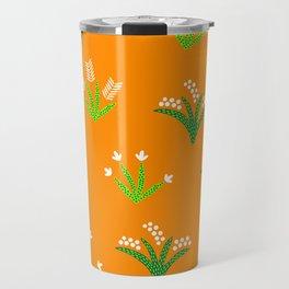 Tropical Flora 4 on Golden Yellow Travel Mug