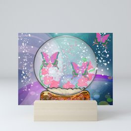 Butterfly Globe Fantasy Art Mini Art Print