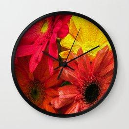 Sunny Daisy Flower Art Wall Clock