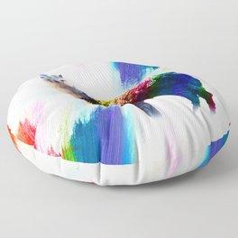Rainbow Llama Unicorn - Llamacorn Floor Pillow