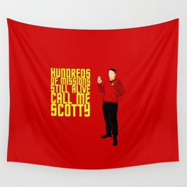 Scotty Always Survives Wall Tapestry