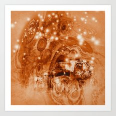 Rusty ghost wreck Art Print